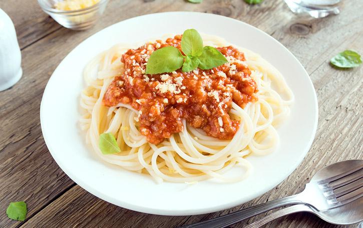 Pre-prepared Spaghetti Bolognese