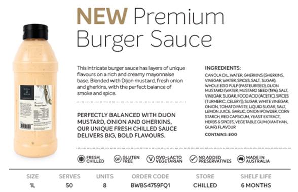 Premium Burger Sauce
